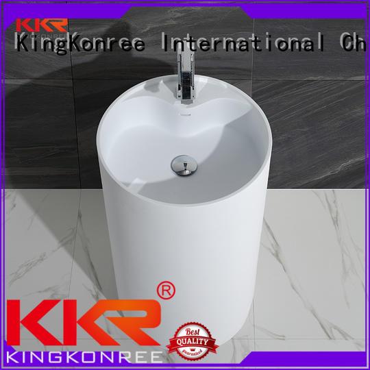 square wasn kkr KingKonree Brand bathroom free standing basins factory