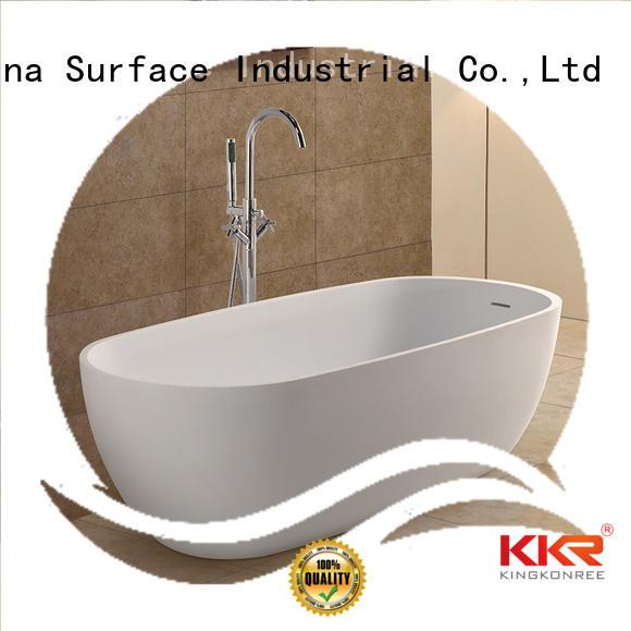 ellipse length Solid Surface Freestanding Bathtub sanitary standing KingKonree Brand