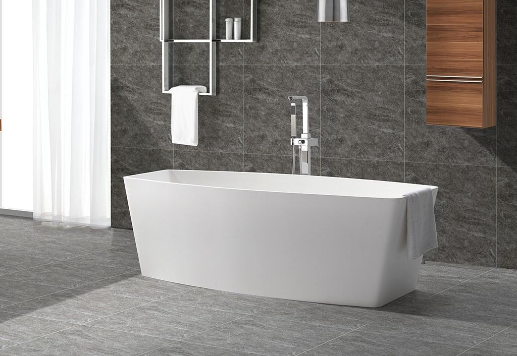 solid surface bathtub free design KingKonree-1