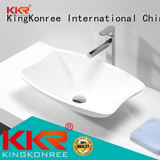 artificial oval above counter basin bathroom KingKonree company