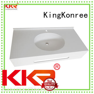 KingKonree solid stone countertops latest design for bathroom
