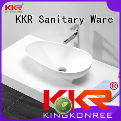 KingKonree marble top mount bathroom sink at discount for restaurant