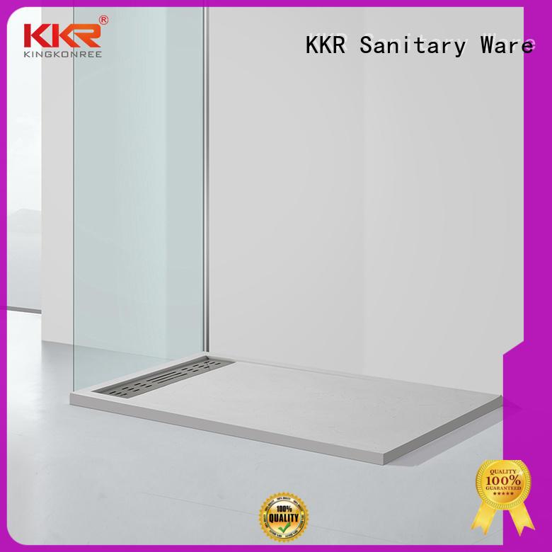 resin small shower tray quarter circle for motel KingKonree