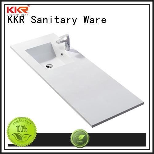 KingKonree wooden toilet wash basin resin for toilet