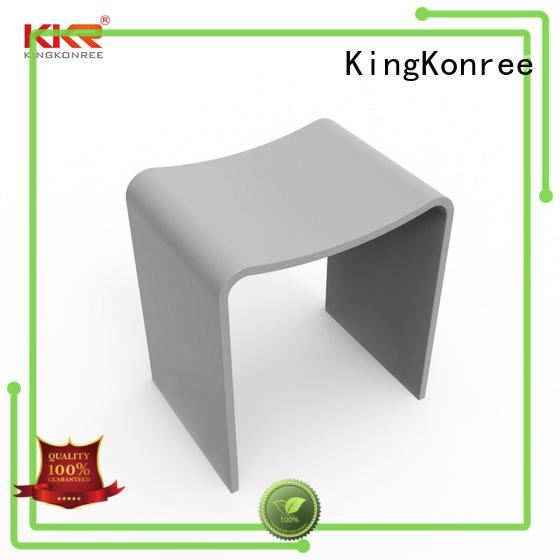 KingKonree sparkle white bathroom stool stainless steel for hotel