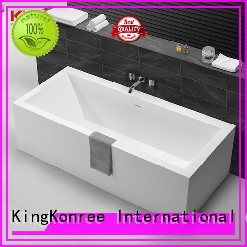 KingKonree overflow acrylic freestanding bathtub ODM for shower room