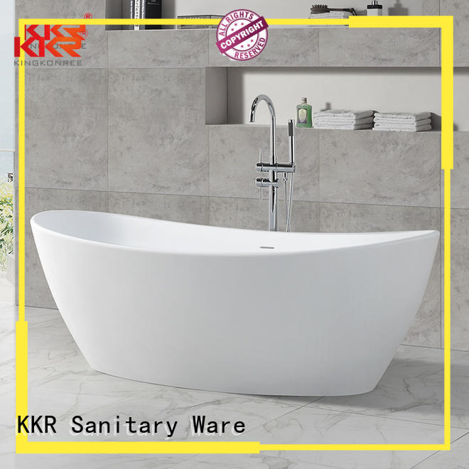 Solid Surface Freestanding Bathtub ware design free KingKonree Brand