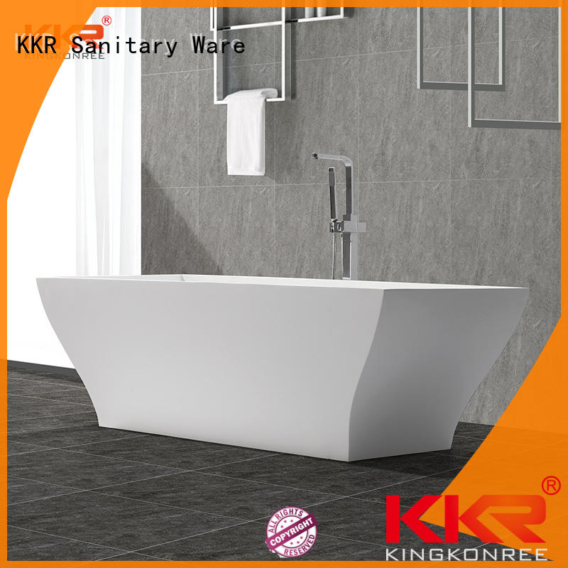 KingKonree black contemporary freestanding tub OEM for bathroom