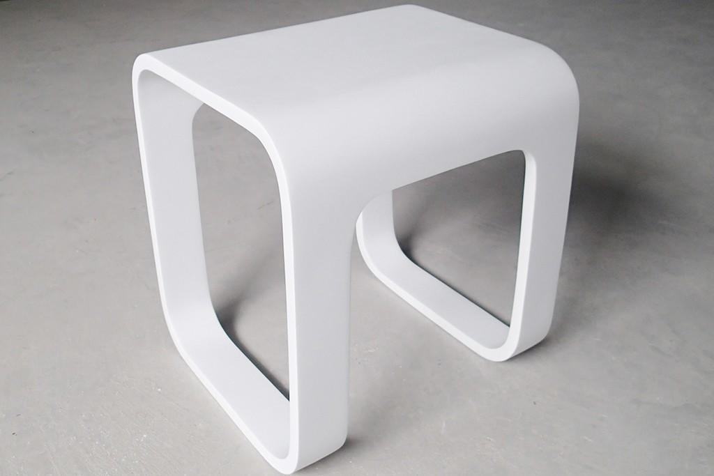 New Design Artificial Stone Acrylic Solid Surface Bathroom Stool KKR-Stool-F-2