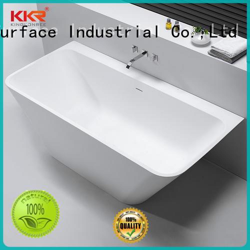 KingKonree gran venta independiente bañera profunda resina para hotel