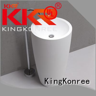 KingKonree Brand square free stone bathroom free standing basins acrylic