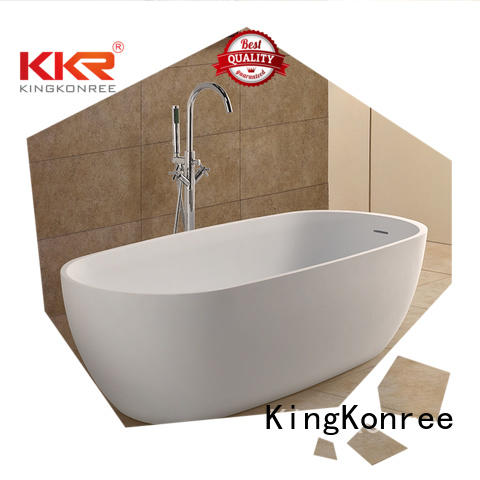 polymarble free freestand atrifial solid surface bathtub KingKonree