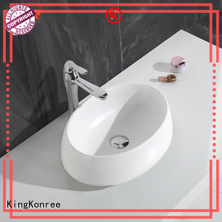 standard top mount bathroom sink supplier for hotel