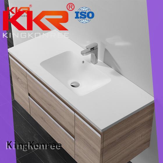 KingKonree gabinete de lavabo de acrílico de madera sanitario para baño
