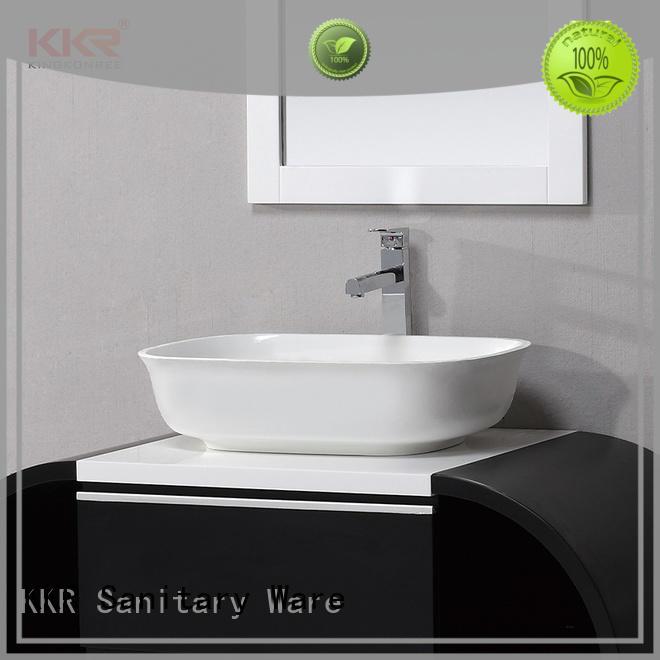 KingKonree best material solid surface basin top-brand for shower room