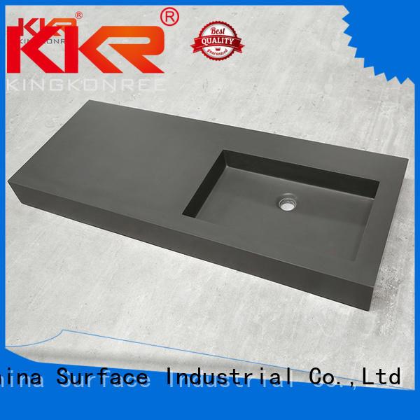 kkr surface white KingKonree Brand cloakroom basin with cabine supplier