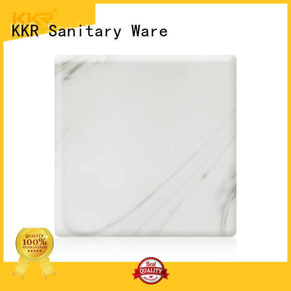 resin acrylic solid surface sheet black for indoors KingKonree