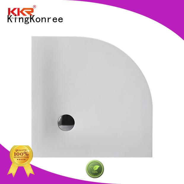 KingKonree pan shape 900 x 800 shower tray for bathroom