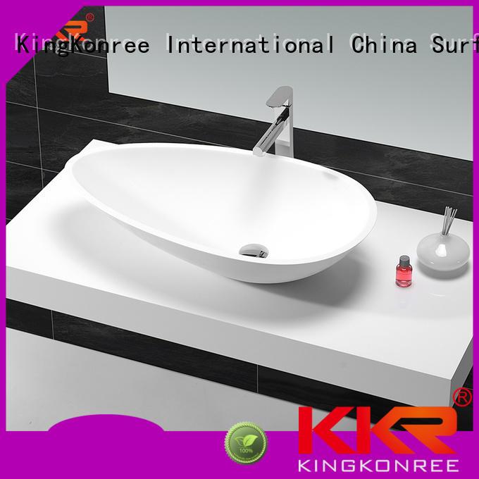 bathroom above counter basins white above KingKonree company
