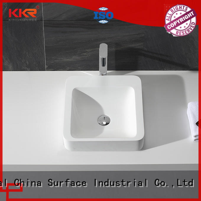 thermoforming above counter bathroom sink vanity customized for room