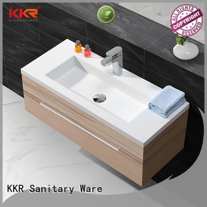 KingKonree straight wash basin with cabinet buy online manufacturer for bathroom
