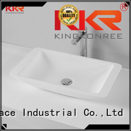 oval above counter basin countertop solid surface KingKonree Brand above counter basins