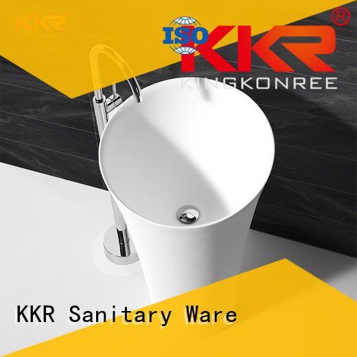black freestanding pedestal sink manufacturer for hotel