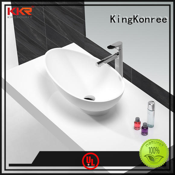 above counter lavatory sink black for restaurant KingKonree