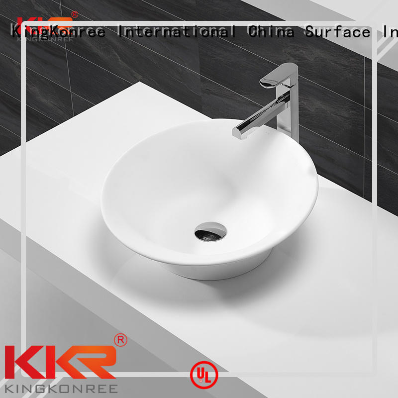 Quality KingKonree Brand oval above counter basin artificial