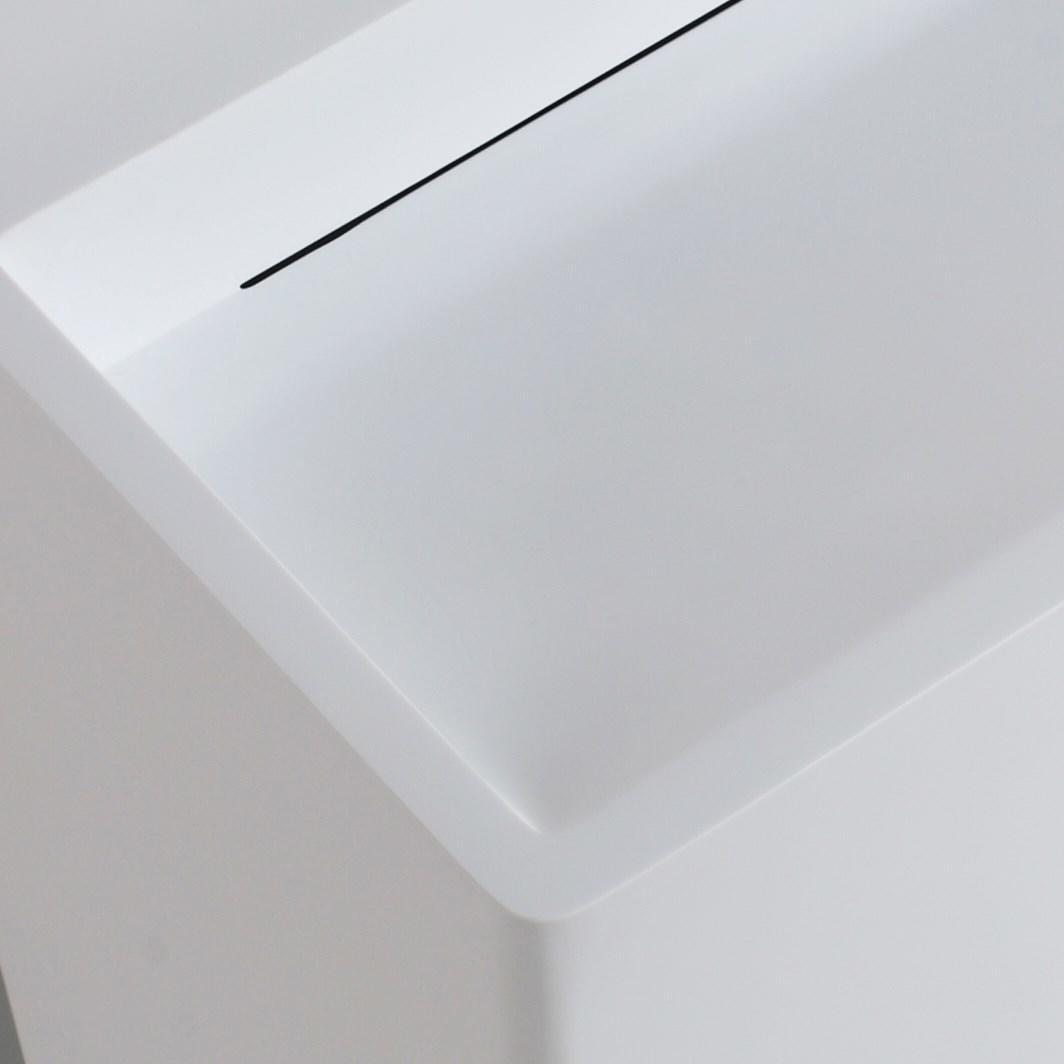 KingKonree rectangle stand alone bathroom sink design for hotel-2