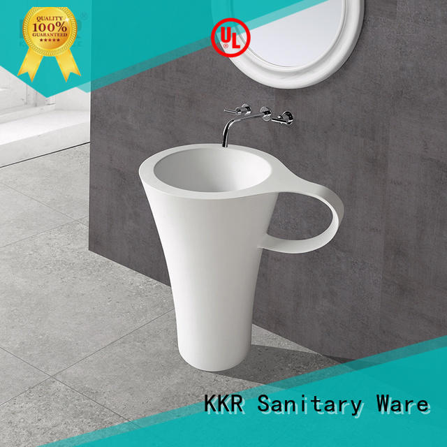 KingKonree free design solid surface basin top-brand for hotel