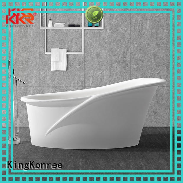 KingKonree Brand b009 ellipse shape solid surface bathtub