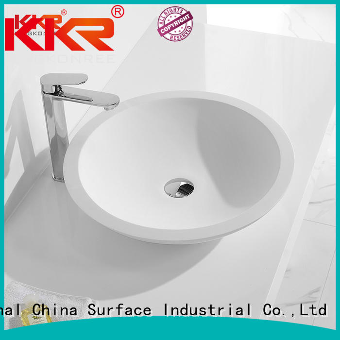 Quality KingKonree Brand oval above counter basin counter artificial