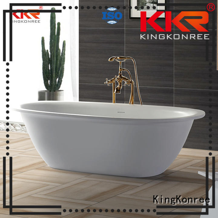 atrifial sales kkrb011 design KingKonree Brand solid surface bathtub supplier