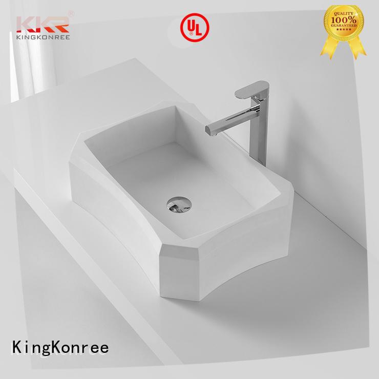 KingKonree excellent top mount bathroom sink design for restaurant