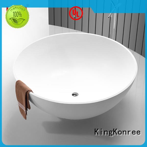 KingKonree high-end best soaking tub resin for bathroom
