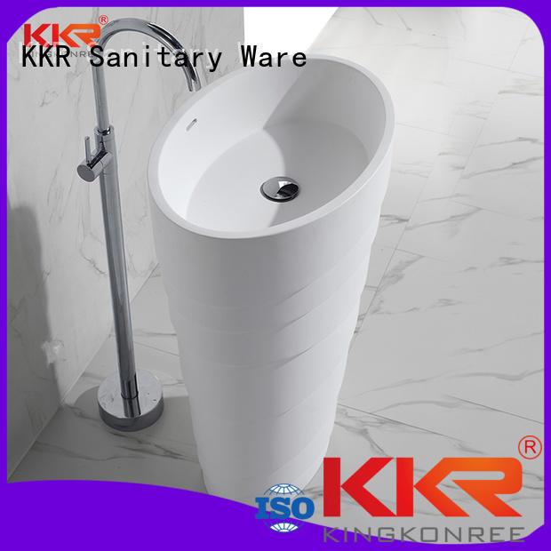 solid surface bathroom free standing basins modern wasn KingKonree Brand