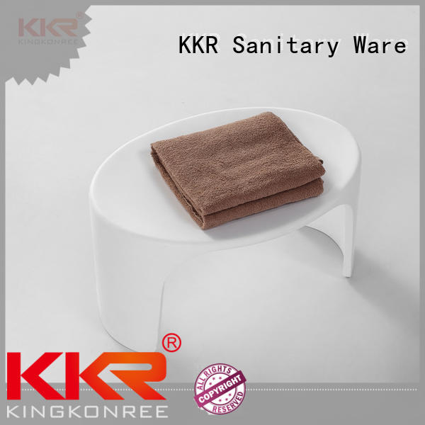 Small Size Bathroom Furniture Solid Surface Bath Stool KKR-Stool -D