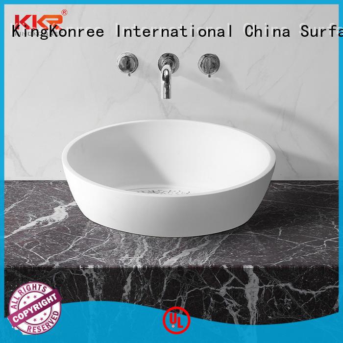 KingKonree solid surface basin for wholesale for bathroom