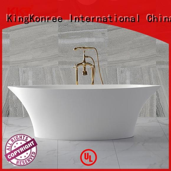 Bathroom furniture polymarble acrylic solid surface freestanding bathtub KKR-B011
