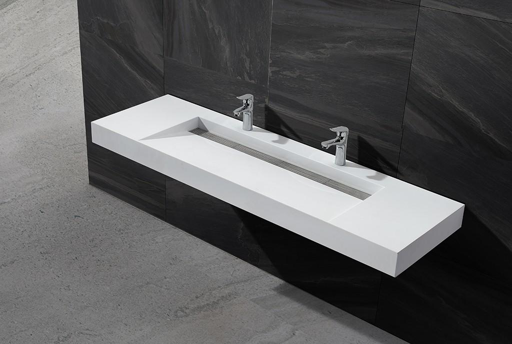 double small wall hung basin customized for bathroom-1