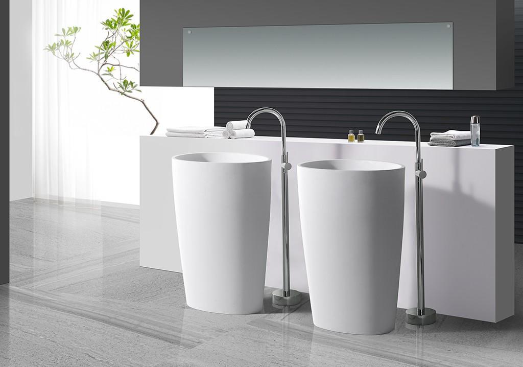 KingKonree stand alone bathroom sink customized for hotel-1