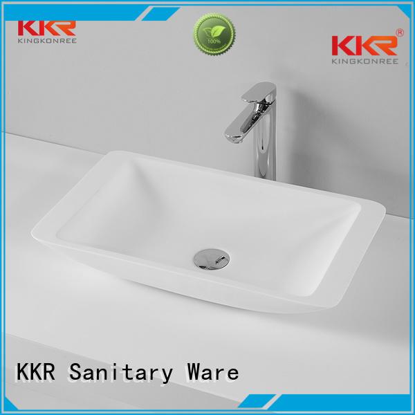 Hot stone above counter basins rectangle countertop KingKonree Brand