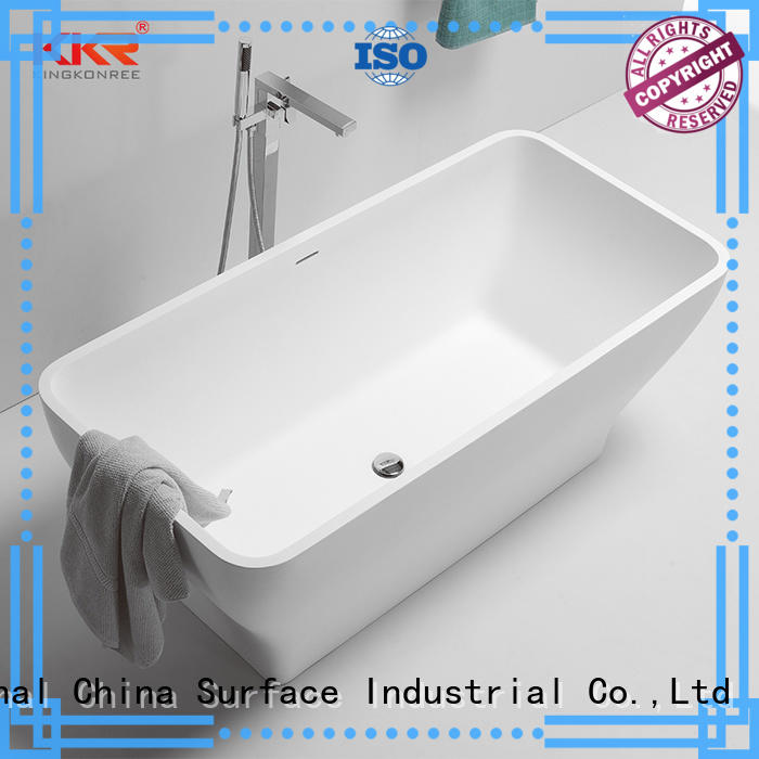 KingKonree stone resin bath ODM for family decoration