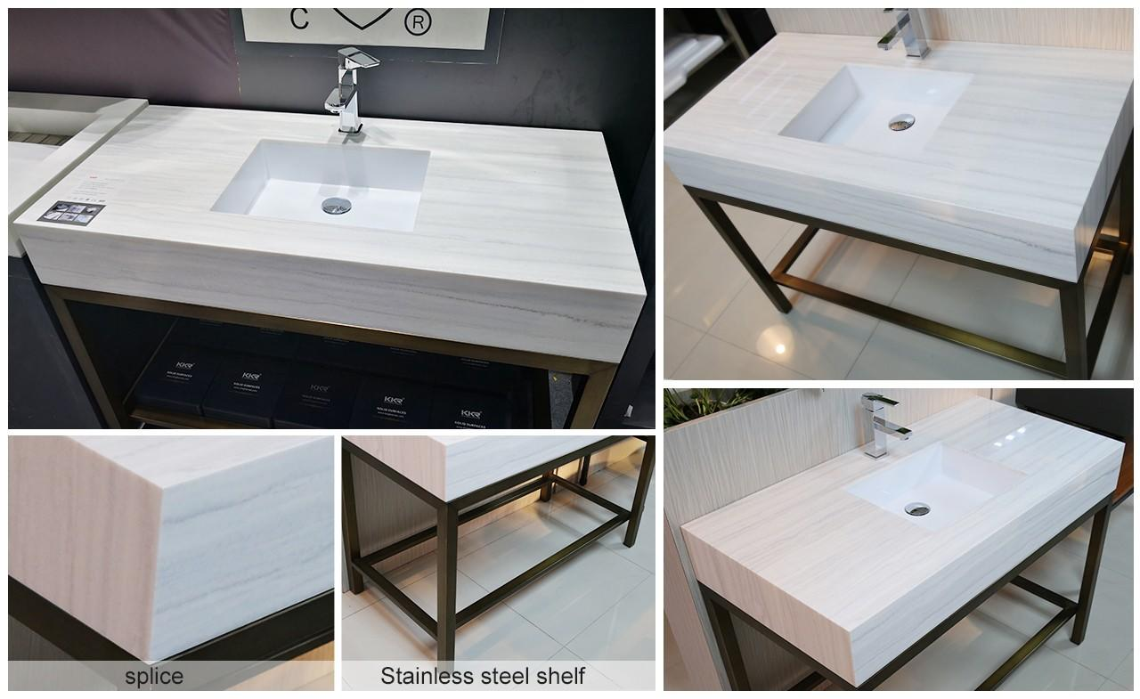 quality custom vanity tops soid sink for bathroom-1