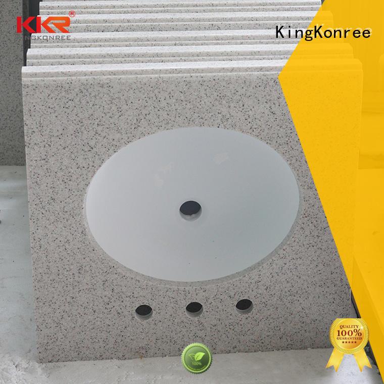 back splash solid stone countertops under-mount for home KingKonree