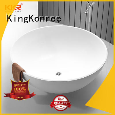 marble solid surface freestanding tubs OEM for family decoration