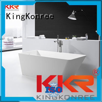 b001 shape sales diameter solid surface bathtub KingKonree
