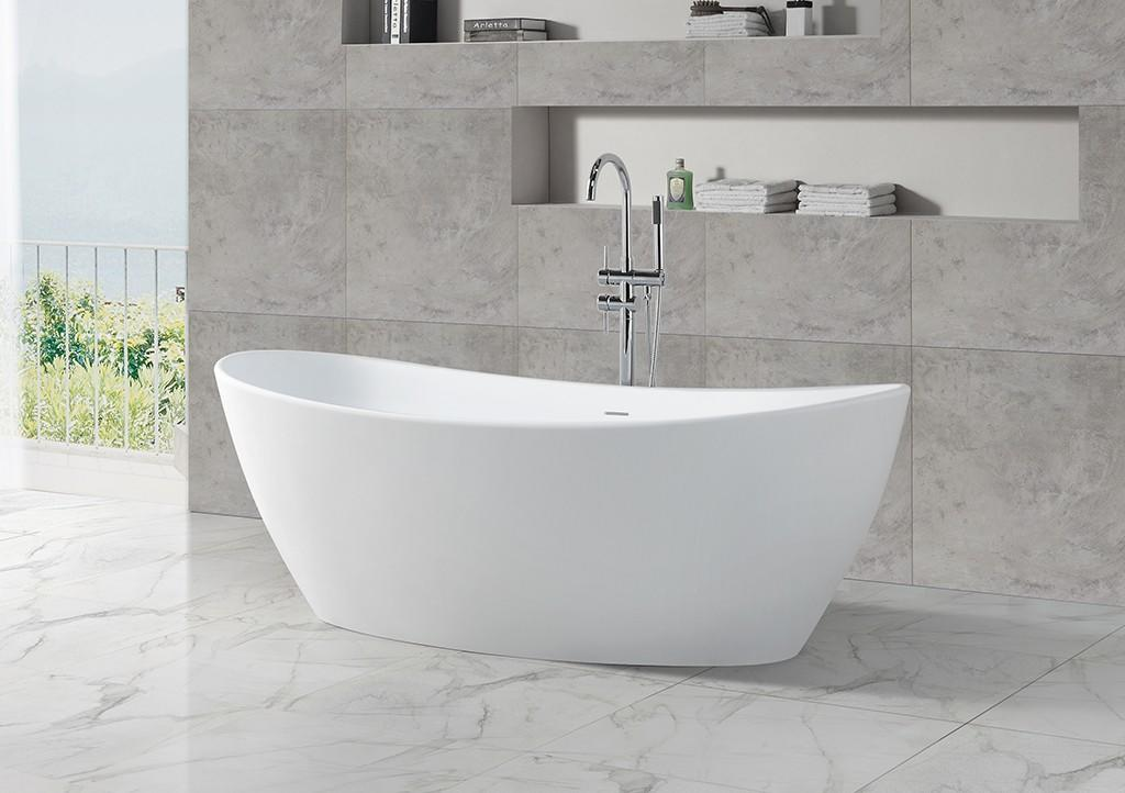 KingKonree stand alone soaking bathtubs at discount for hotel-1
