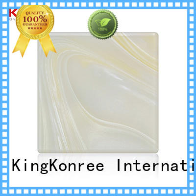 KingKonree white solid surface countertops ODM for bathroom